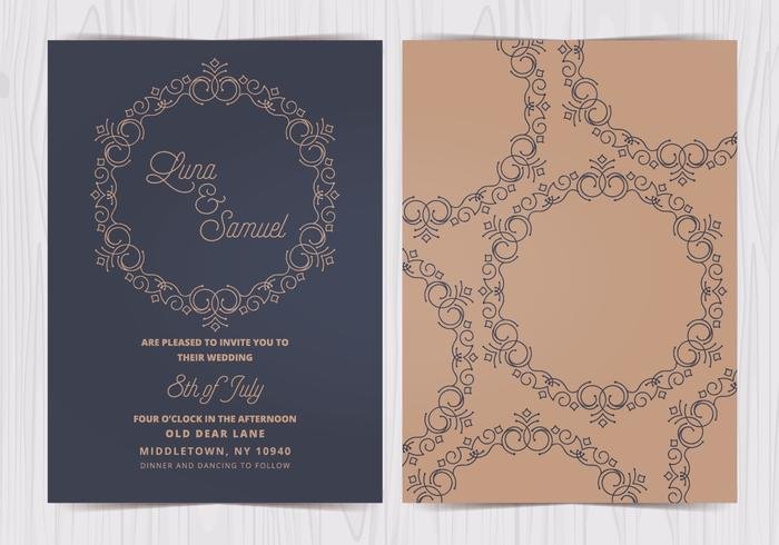 Vector Elegant Wedding Invite
