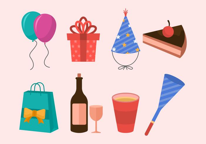 Free Party Icons Vector