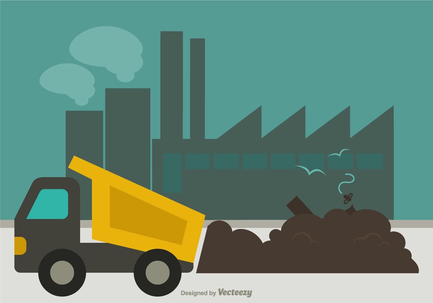 free landfill flat vector illustration