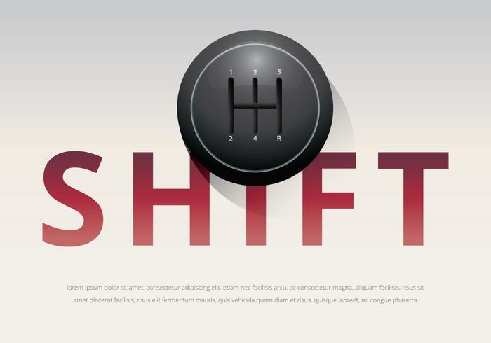 Modèle d'illustration de bouton de changement de vitesses