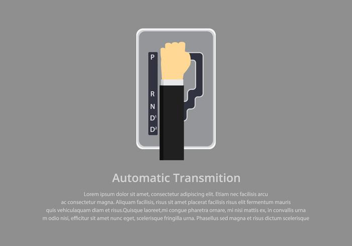 Gear Shift Automatic Illustration Template