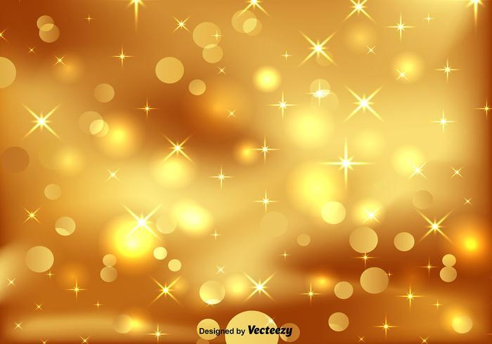 Golden Bokeh - Vector