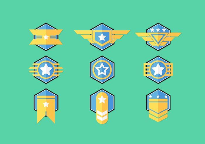 Brigadier badge vektor uppsättningar