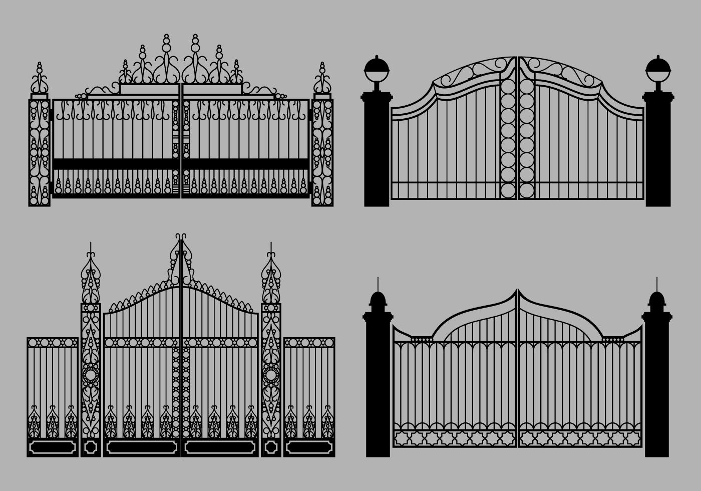 Open Gate Vector Download Free Vector Art Stock