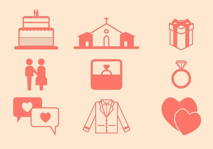 Icône de vecteur de mariage gratuit