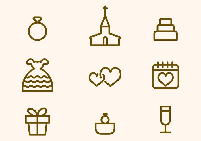 Kostenlose Hochzeit Vektor-Icon