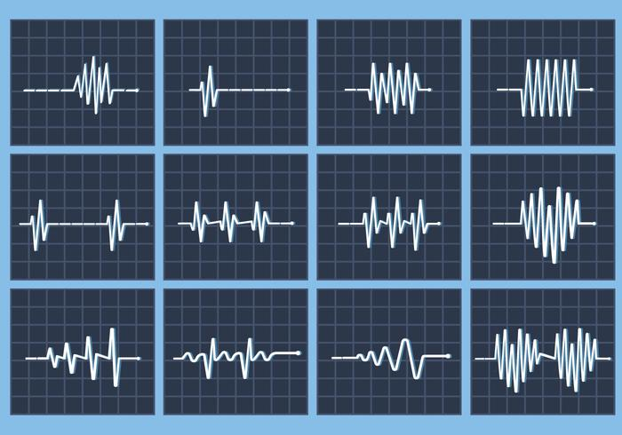 Heart rate beat vector flatline