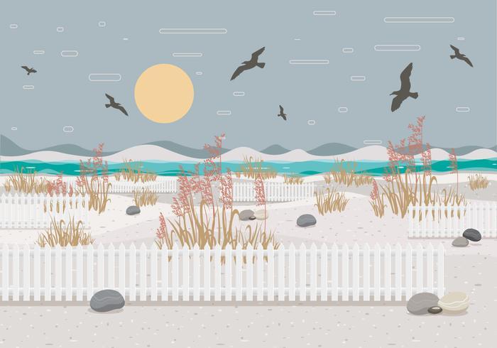 Sea Oats Landscape 2 Vector