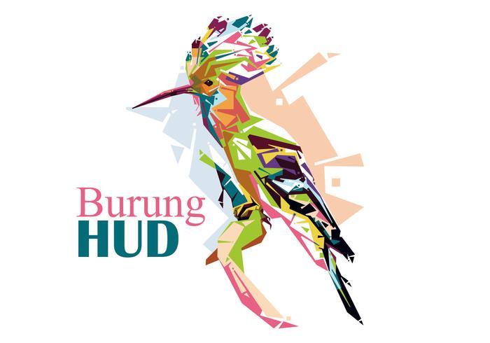 Burung HUD - Popart Portrait vector