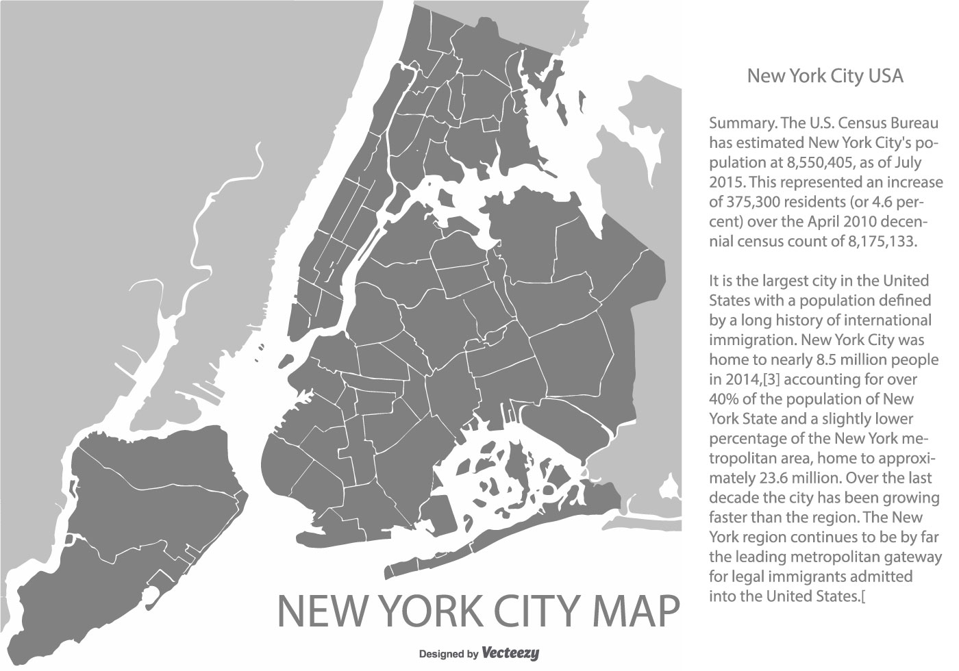 New York Map Black And White.New York City Map Free Vector Art 18458 Free Downloads