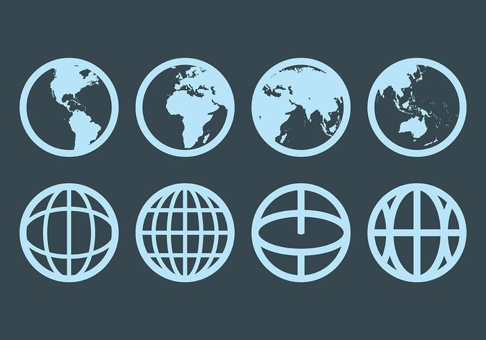 Iconos de Globus gratis vector