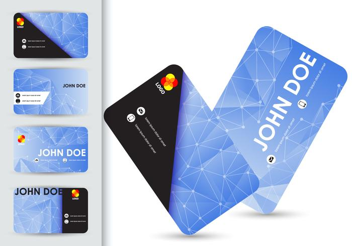 Name Card Abstract Template Design