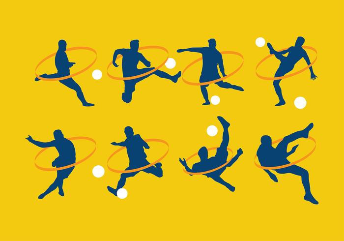 Kickball Silhouette vettoriali gratis