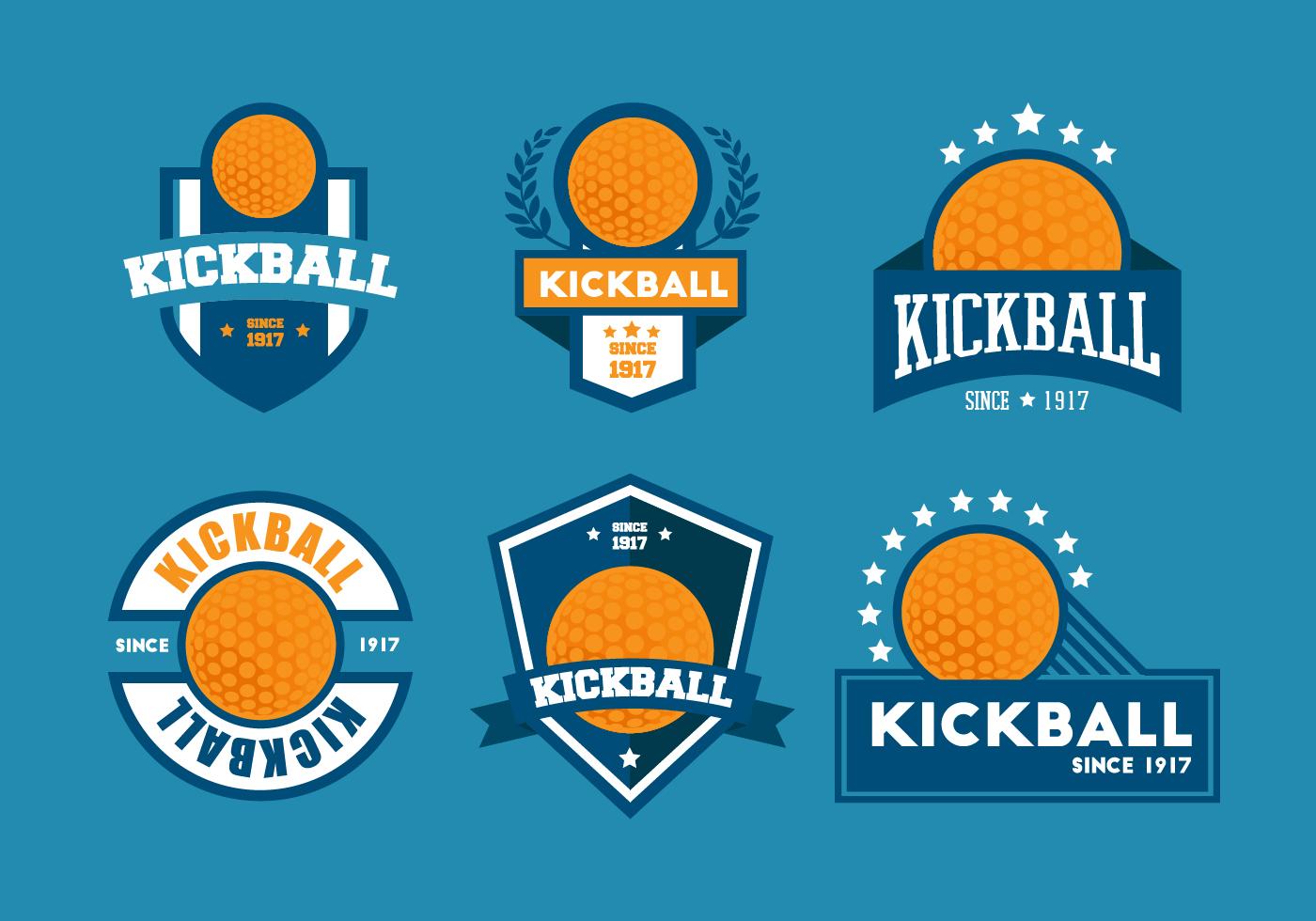 Kickball Vector Badge Sets - Download Free Vector Art ...