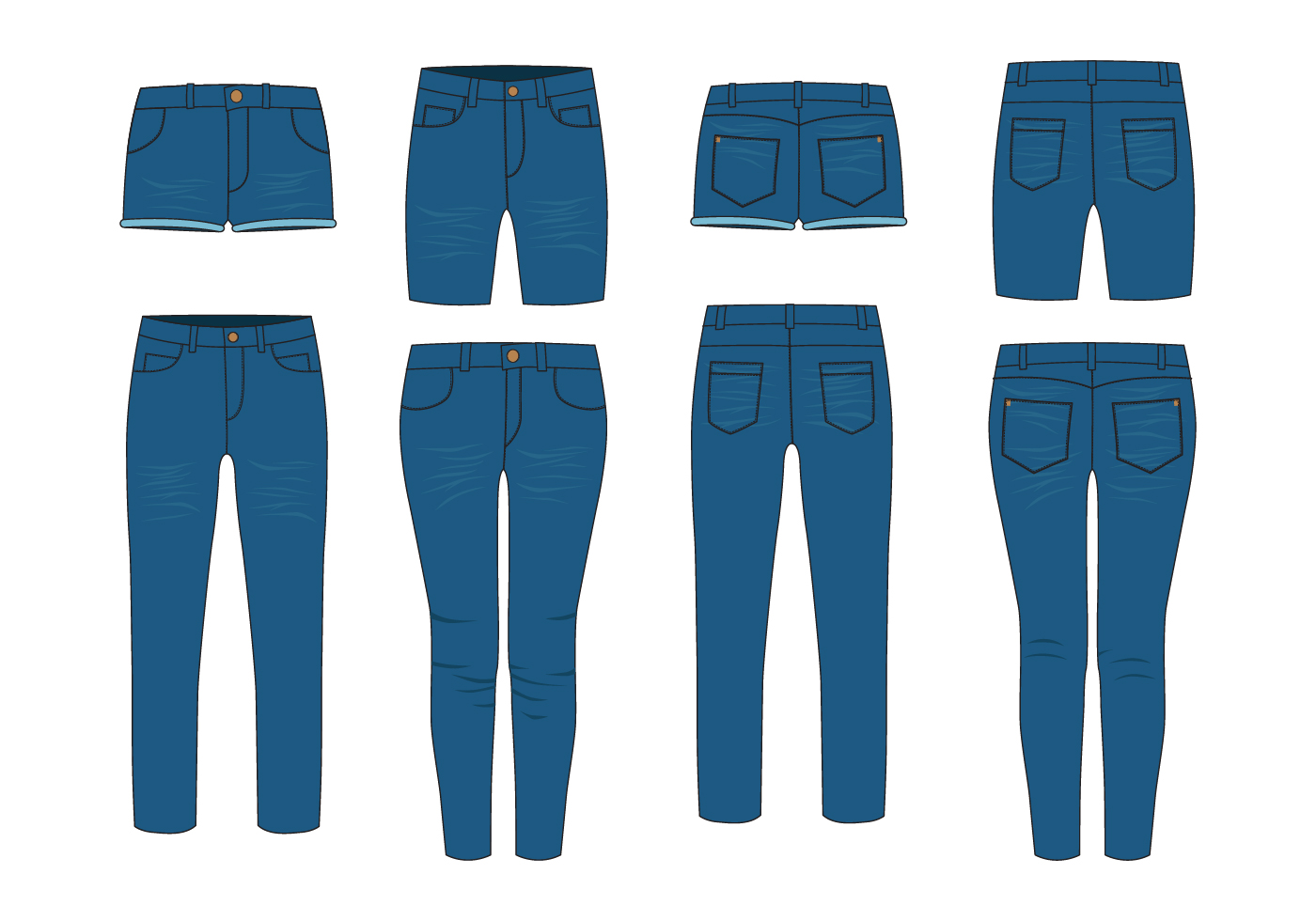 Jeans Free Vector Art - (2124 Free Downloads)