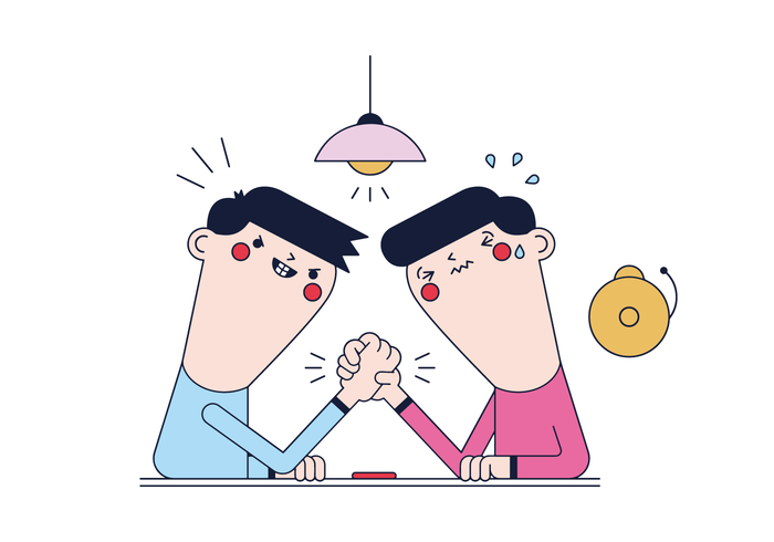 Free Arm Wrestling  Vector