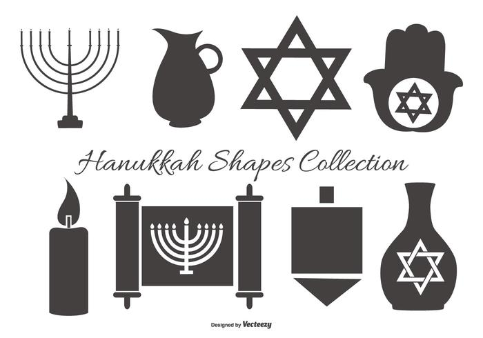 Collection Hanukkah Vector Shapes