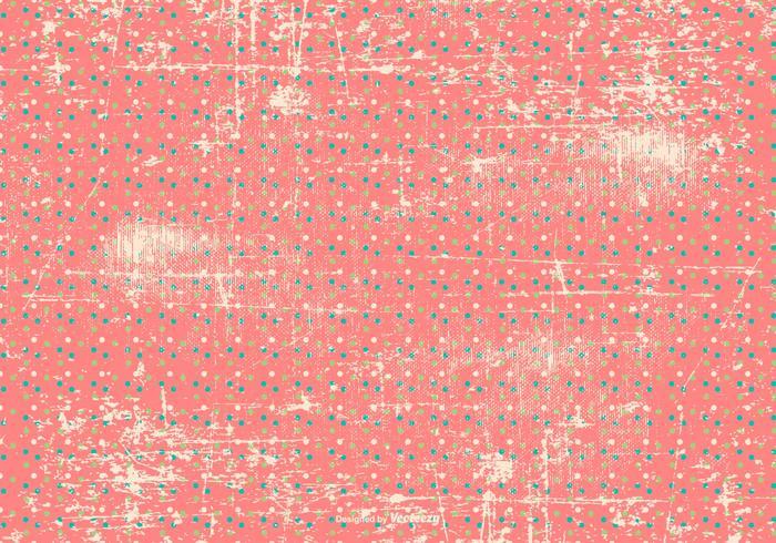 Grunge Polka Dot Background vector