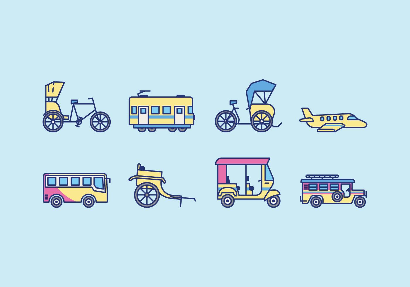 Free Public Transportation Vector Download Free Vector Art Stock