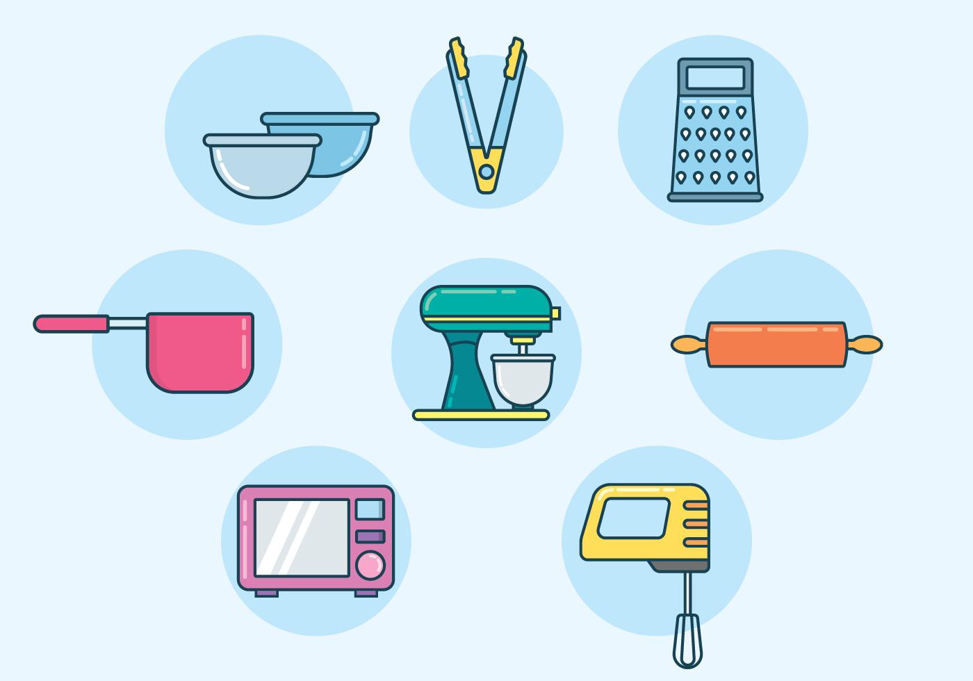 Baking Equipment Vector Download Free Vectors Clipart