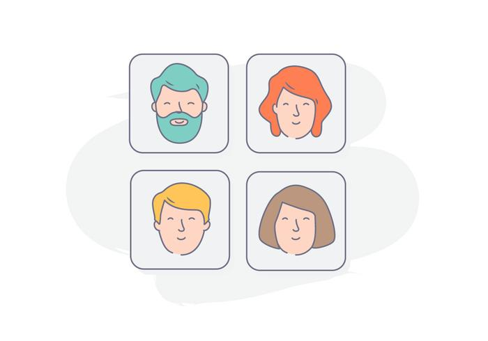 Character Icons Illustration