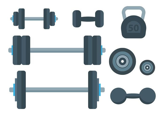 Free Dumbell Icons Vector