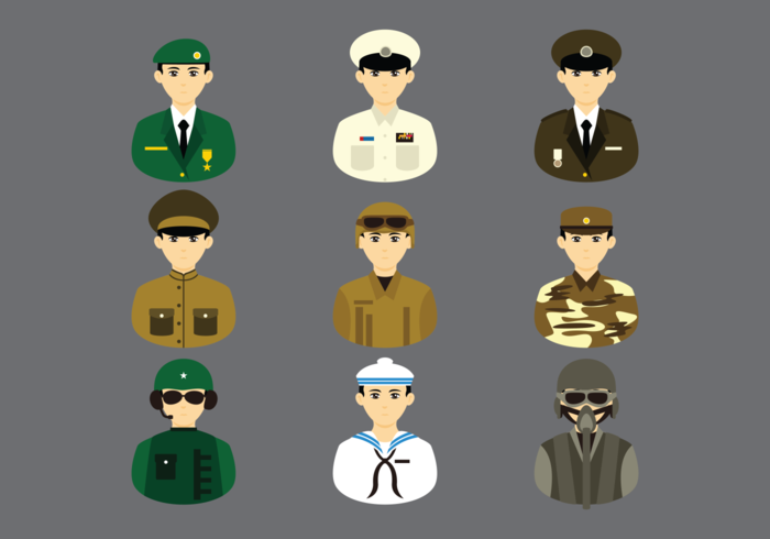 Brigadier Cartoon Vector