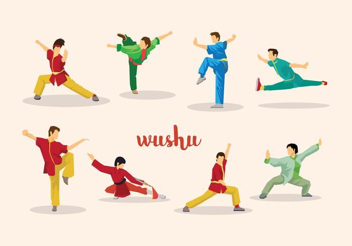 Vector libre de Wushu