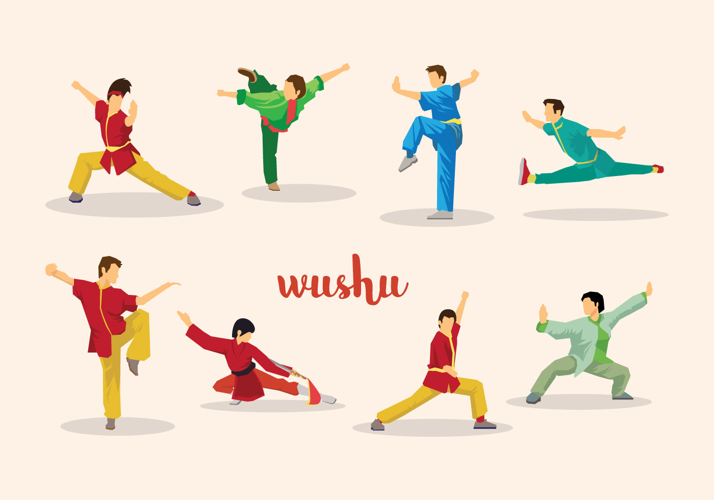 free wushu vector download free vector art stock
