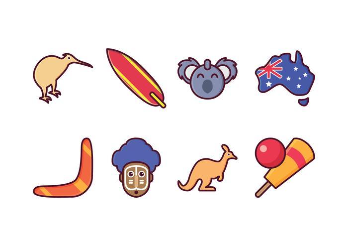 Free Australia Set de ícones
