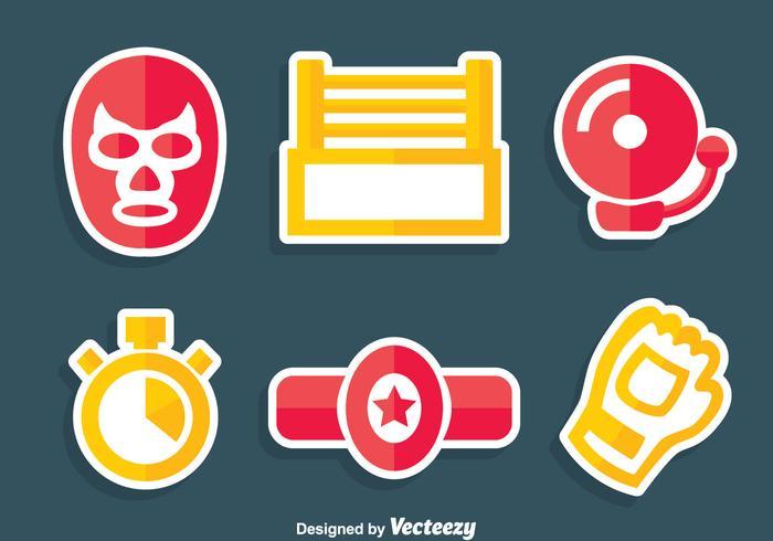 Wrestline Element Vector Set