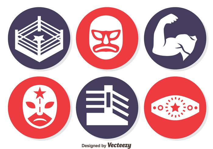 Wrestling Element Circle icons Vector