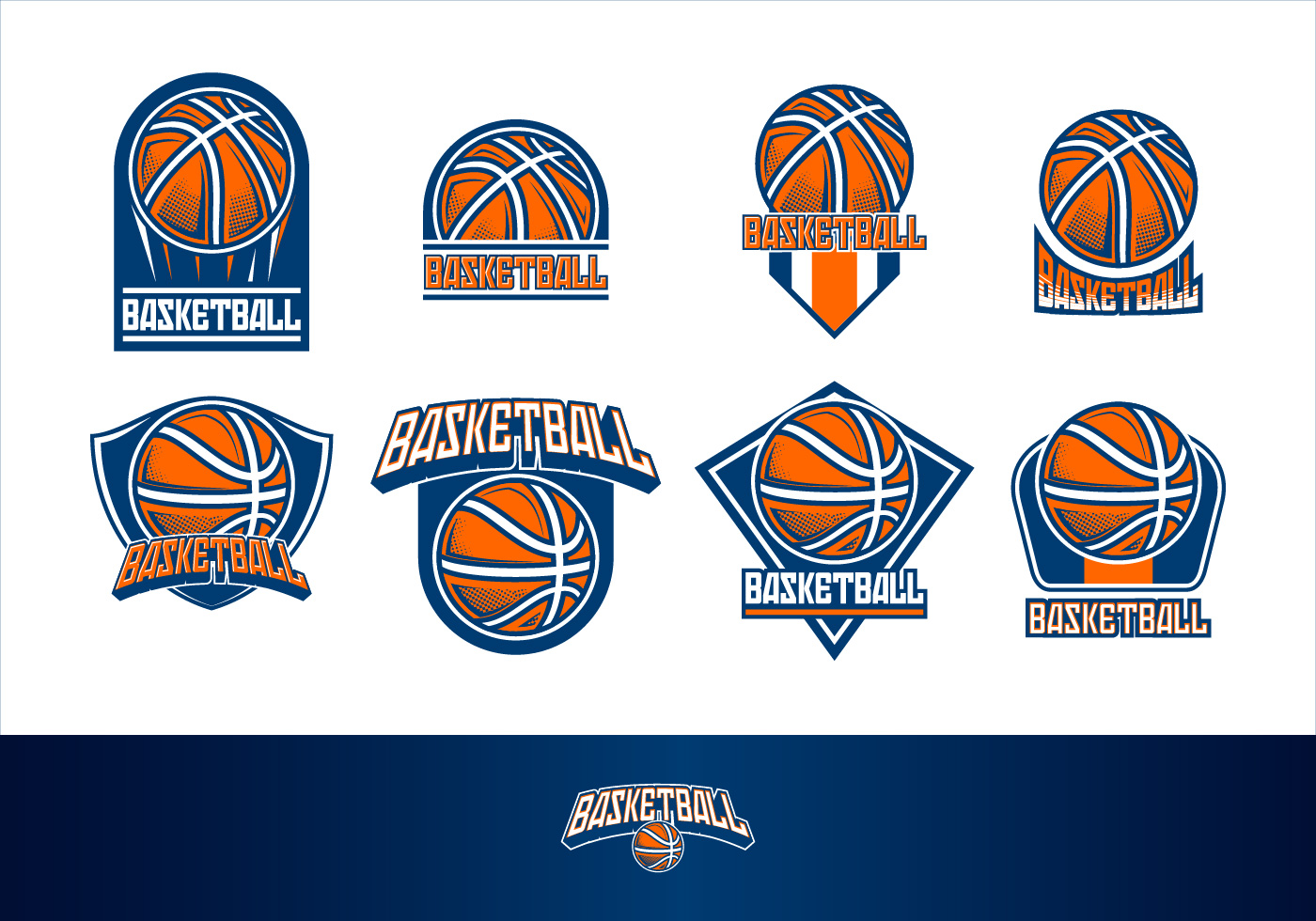 basketball logo free vector art 5594 free downloads