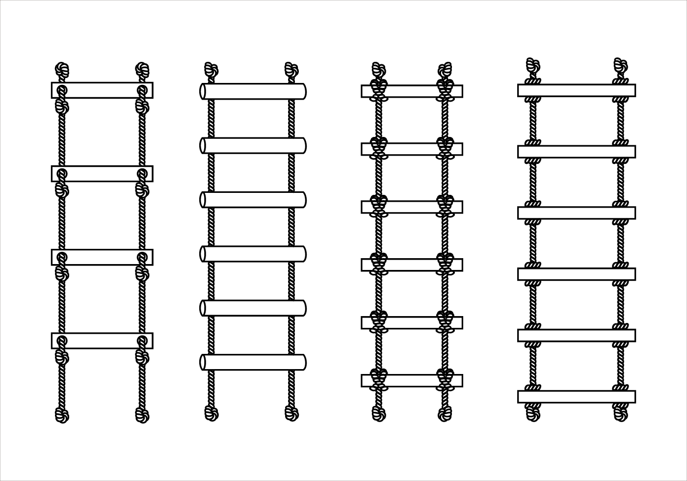 Brown Rope Ladder Vectors - Download Free Vector Art, Stock ... for Rope Ladder Knot  28cpg