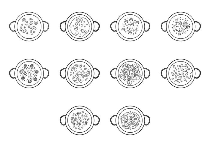 Free Paella Icon Vector