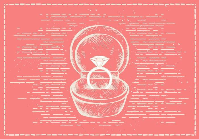 Fond de vecteur anneau de Valentines à la main