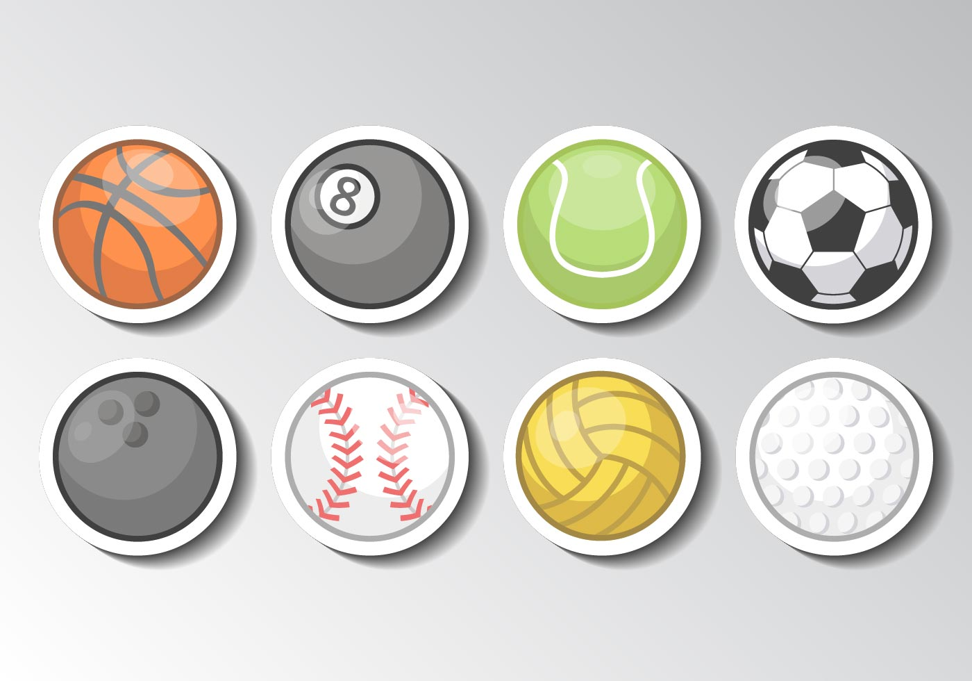 sports vector ball vectors icons sport graphics icon edit clipart softball baseball golf non volleyball game vecteezy