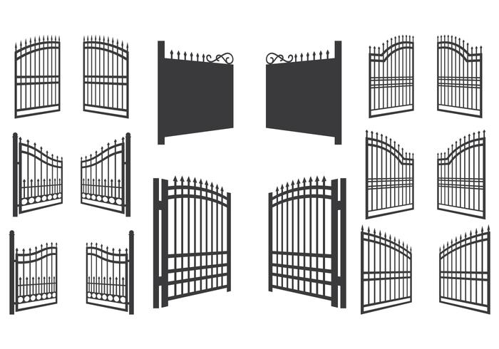 Open Gate Vector Illustration