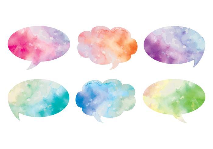 Vector Watercolor Text Bubbles