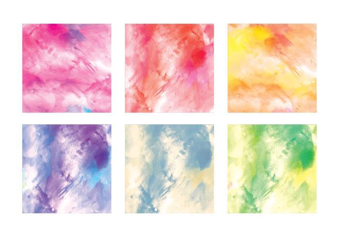Vector Watercolor Squares
