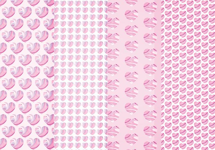 Vector Marble Hearts Patterns