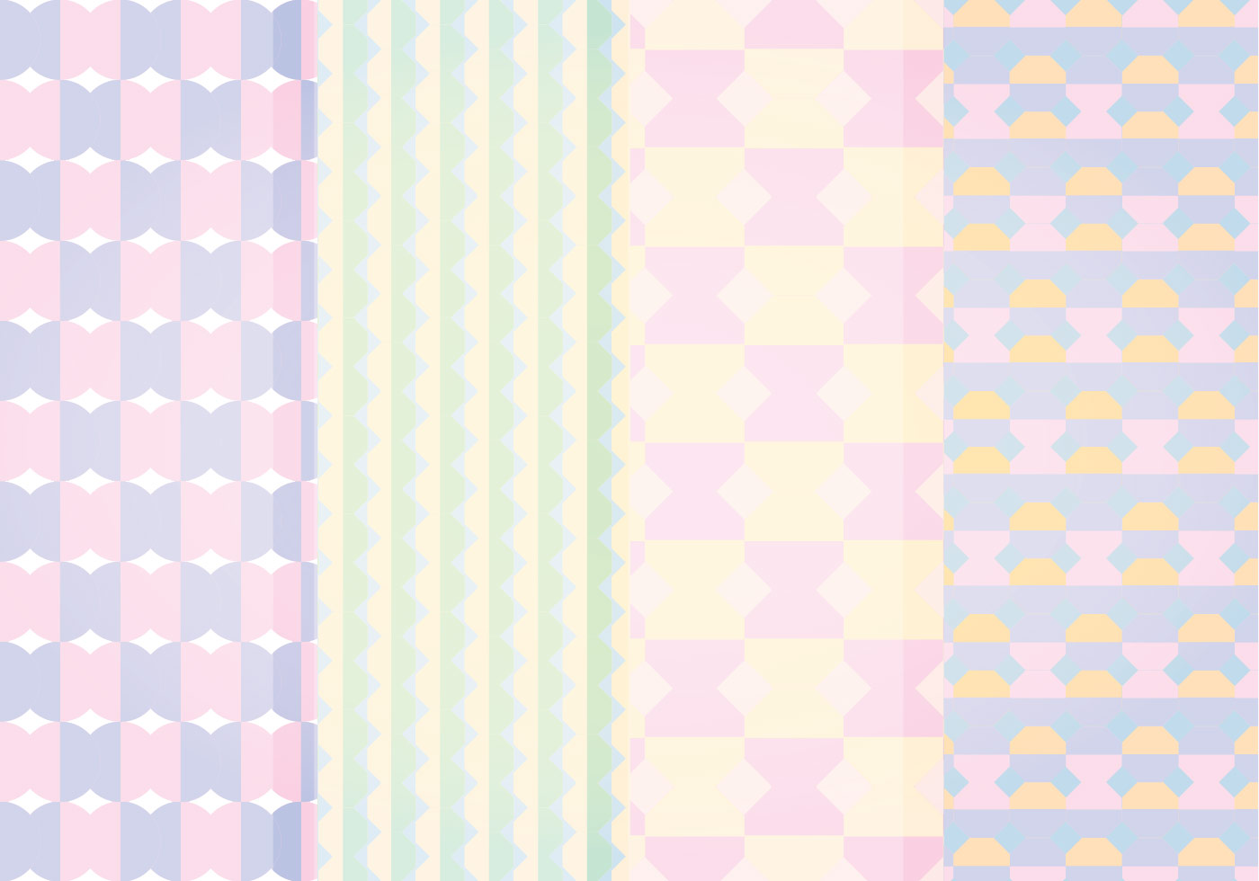 Vector Pastel Geometric Patterns Download Free Vector
