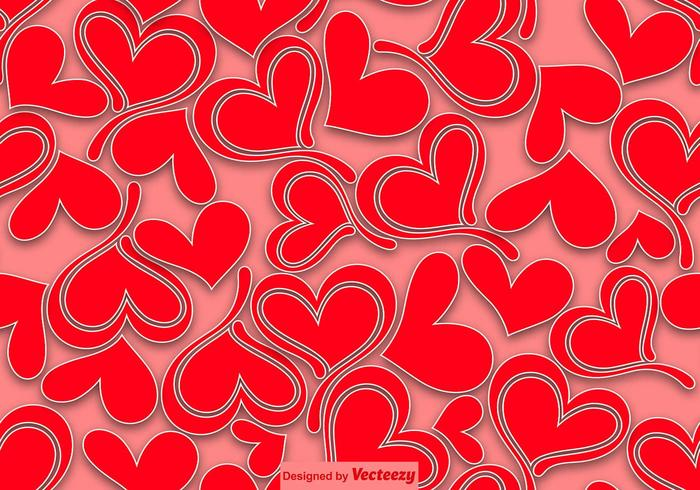 Hearts Seamless Pattern - Vector