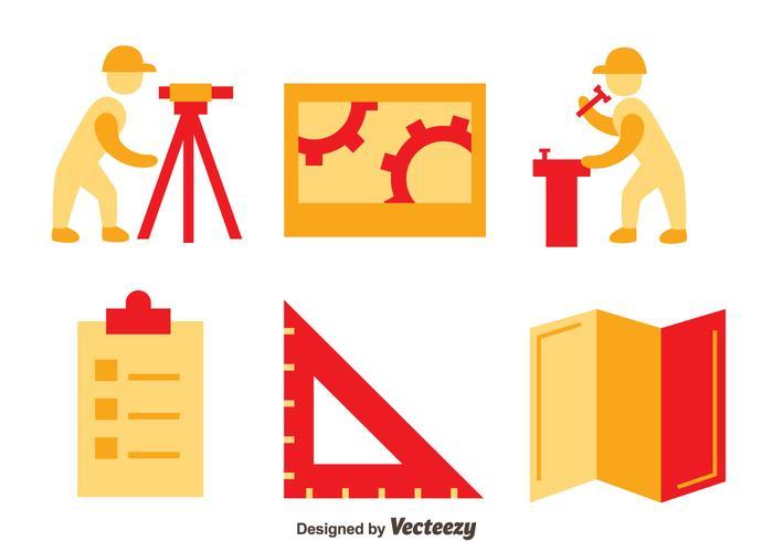 Surveyor Icons Vector Set