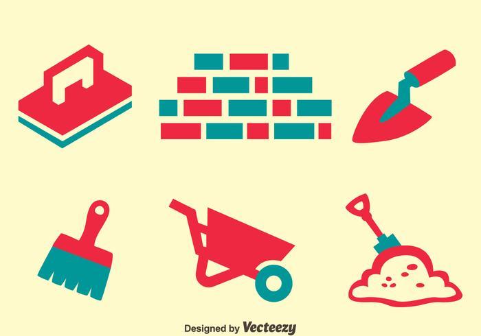 Masonry Element Icons Vector