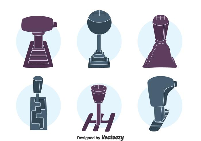 Auto Gear Shift Collectie Vector