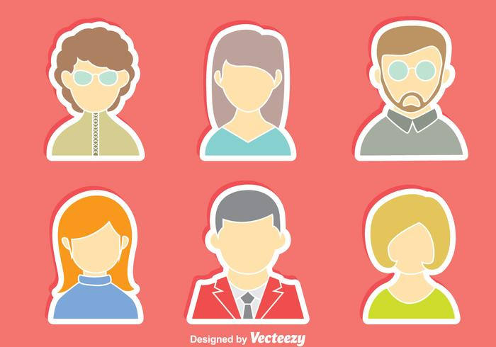 People Avatar Vector Set