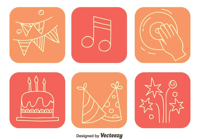 Party Element Square Icons