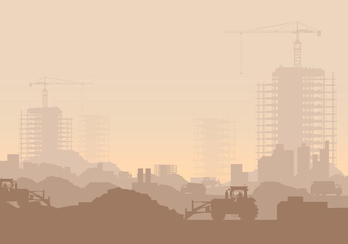 Industriële Illustratie van de stortplaats