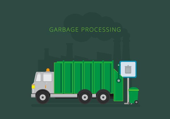 Camion à ordures d'enfouissement